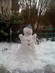 Mr. Snow with Hat