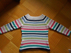 My very first self-knit Sweater